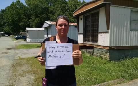 Gina of Whitsett is a Down Home NC member because having a voice and a vote matters to working people.
