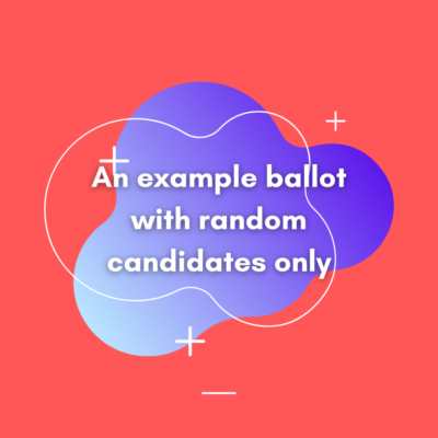 An example ballot with random candidates only